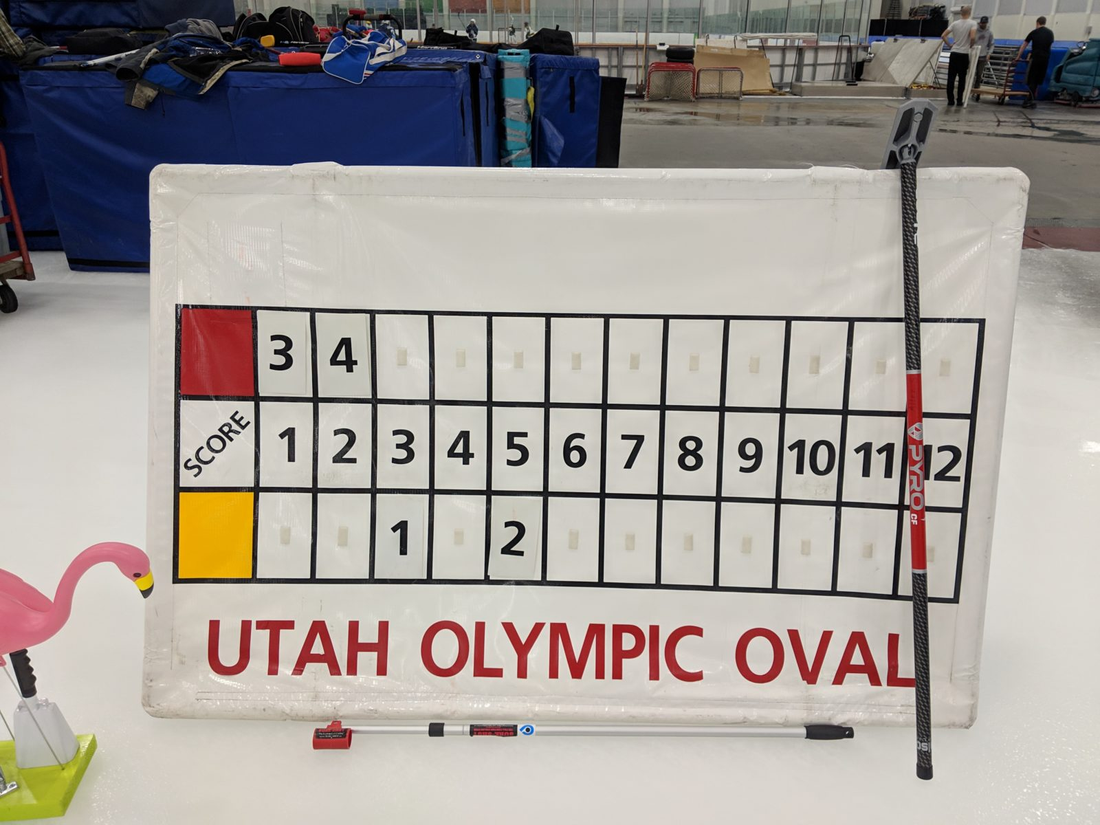 The scoreboard from my first winning game as a skip on Monday, Feb. 26, 2019, at the Utah Olympic Oval in Kearns.
